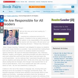 We Are Responsible for All Readers