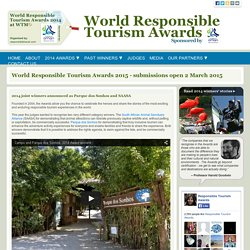 World Responsible Tourism Awards organised by responsibletravel.com