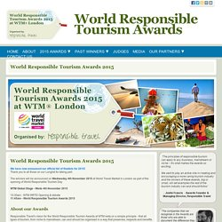 Responsible Tourism Awards organised by responsibletravel.com