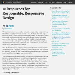 12 Resources for Responsible, Responsive Design