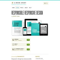 A Book Apart, Responsible Responsive Design