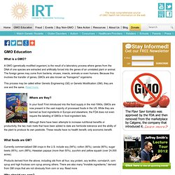 Institute for Responsible Technology - GMO Education