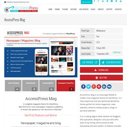 Free Responsive Magazine WordPress Theme - AccessPress Mag