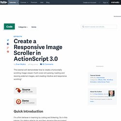 Create a Responsive Image Scroller in ActionScript 3.0