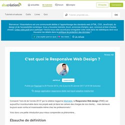 C'est quoi le Responsive Web Design ? - Alsacreations