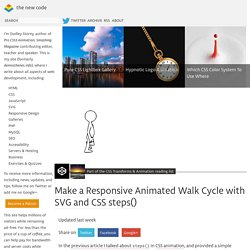 Make a Responsive Animated Walk Cycle with SVG and CSS steps()