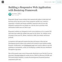 Building a Responsive Web Application with Bootstrap Framework