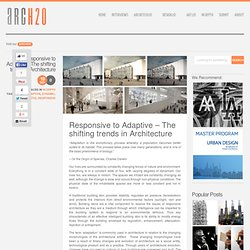 Responsive to Adaptive – The shifting trends in Architecture
