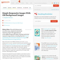 Simple Responsive Images With CSS Background Images – Smashing Magazine