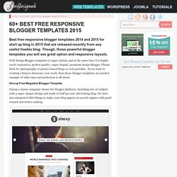 60+ Best Free Responsive Blogger Templates 2015