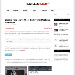 Create a Responsive Photo Gallery with Bootstrap Framework