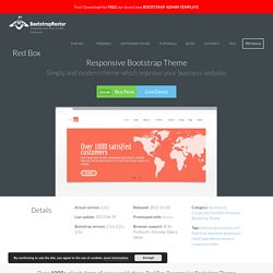 Red Box Responsive Bootstrap Theme - Bootstrap Master Template