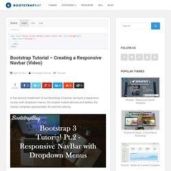 Bootstrap Tutorial - Creating a Responsive Navbar (Video)