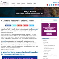 A Guide to Responsive Breaking Points