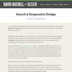 Search & Responsive Design – David Bushell – Web Design & Front-end Development