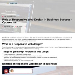 Role of Responsive Web Design in Business Success - Cybexo Inc.