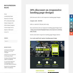 20% discount on responsive landing page designs