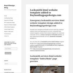 locksmith service html responsive website templates for sale