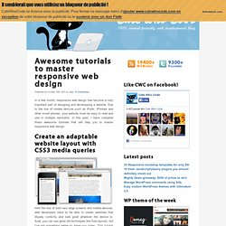 Awesome tutorials to master responsive web design