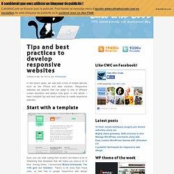 Tips and best practices to develop responsive websites