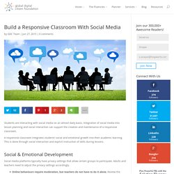 Build a Responsive Classroom With Social Media