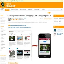 A Responsive Mobile Shopping Cart Using AngularJS
