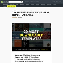 20+ Free Responsive Bootstrap HTML5 Templates Collection