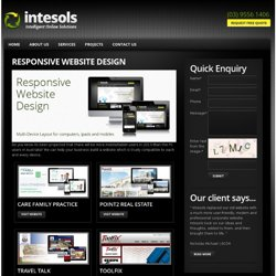 Responsive Website Design, Get Responsive web design - 1 website auto compatible to all possible devices, PC, mobiles & tablets