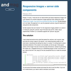 Responsive images + server side components – Anders M. Andersen