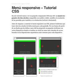 Menú responsive - Diseñar y construir un menú CSS semántico