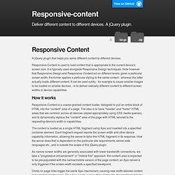 Responsive-content