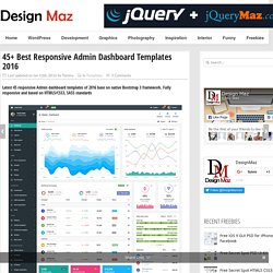 45+ Best Responsive Admin Dashboard Templates 2016