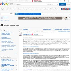 """Responsive"" design eBay item description template... - The eBay Community"