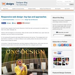 Responsive web design: key tips and approaches