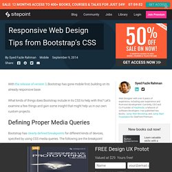 Responsive Web Design Tips from Bootstrap's CSS