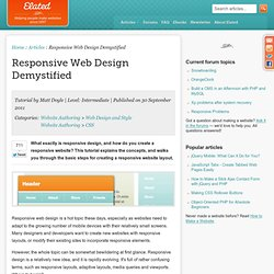 Responsive Web Design Demystified