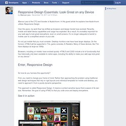 Responsive Design Essentials: Look Great on any Device - Développeurs Facebook