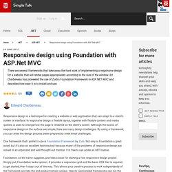 Responsive design using Foundation with ASP.Net MVC