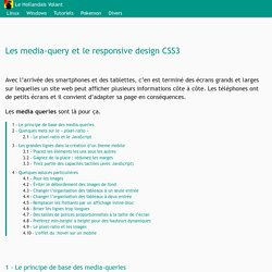 Les media-query et le responsive design CSS3 - Le Hollandais Volant