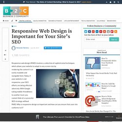 Responsive Web Design is Important for Your Site's SEO
