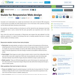 Guide for Responsive Web design