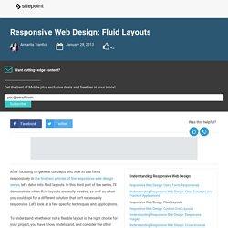 Responsive Web Design: Fluid Layouts