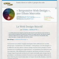 Goban Club – Responsive Web Design par Ethan Marcotte : une traduction française