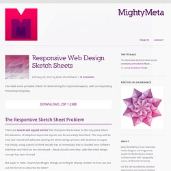Responsive Web Design Sketch Sheets | MightyMeta
