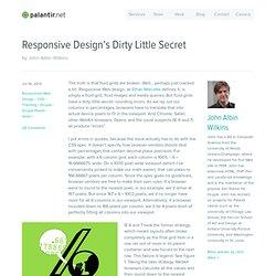 Responsive Design's Dirty Little Secret