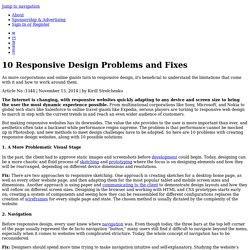 10 Responsive Design Problems and Fixes
