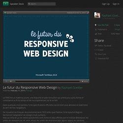 Le futur du Responsive Web Design
