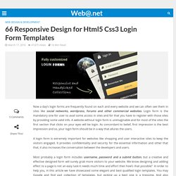 66 Responsive Design for Html5 Css3 Login Form Templates - Web@.net