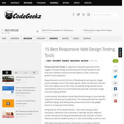 15 Best Responsive Web Design Testing Tools