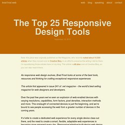 The Top 25 Responsive Design Tools